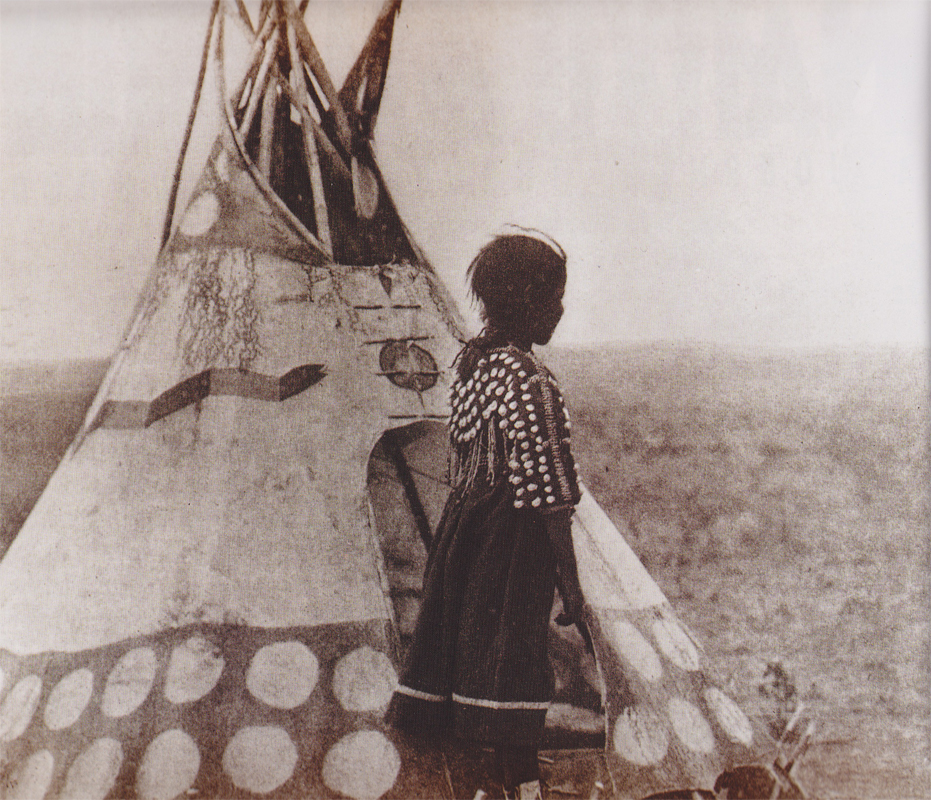 Piegan Blackfoot child and play tipi - in Dolls &Toys of Native America - by Don and Debra McQuiston